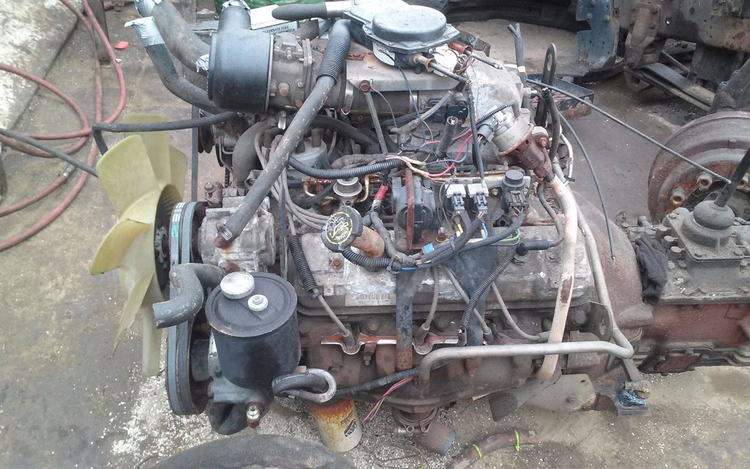 1994 ford 7 0l lpg  stock  salvage