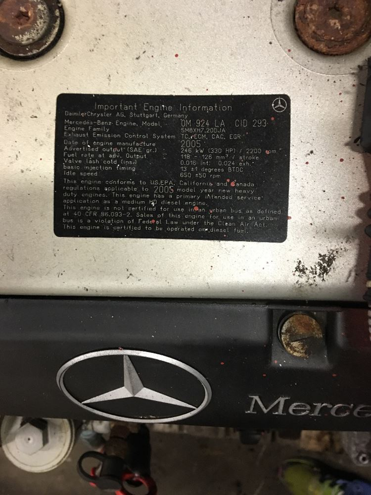 Mercedes Om924 Stock 227810 Engine Assys Tpi