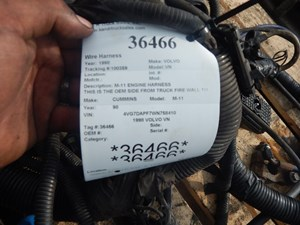 volvo wiring harnesses cab and dah parts tpi 1998 volvo vn wiring harnesses cab dash stock 36466 part