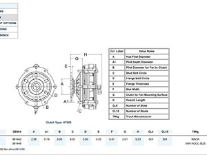 mack fan clutch hub parts p2 tpi rh truckpartsinventory com 2006 Mack Truck Wiring Diagrams 2004 Mack CX613 Wiring Diagrams