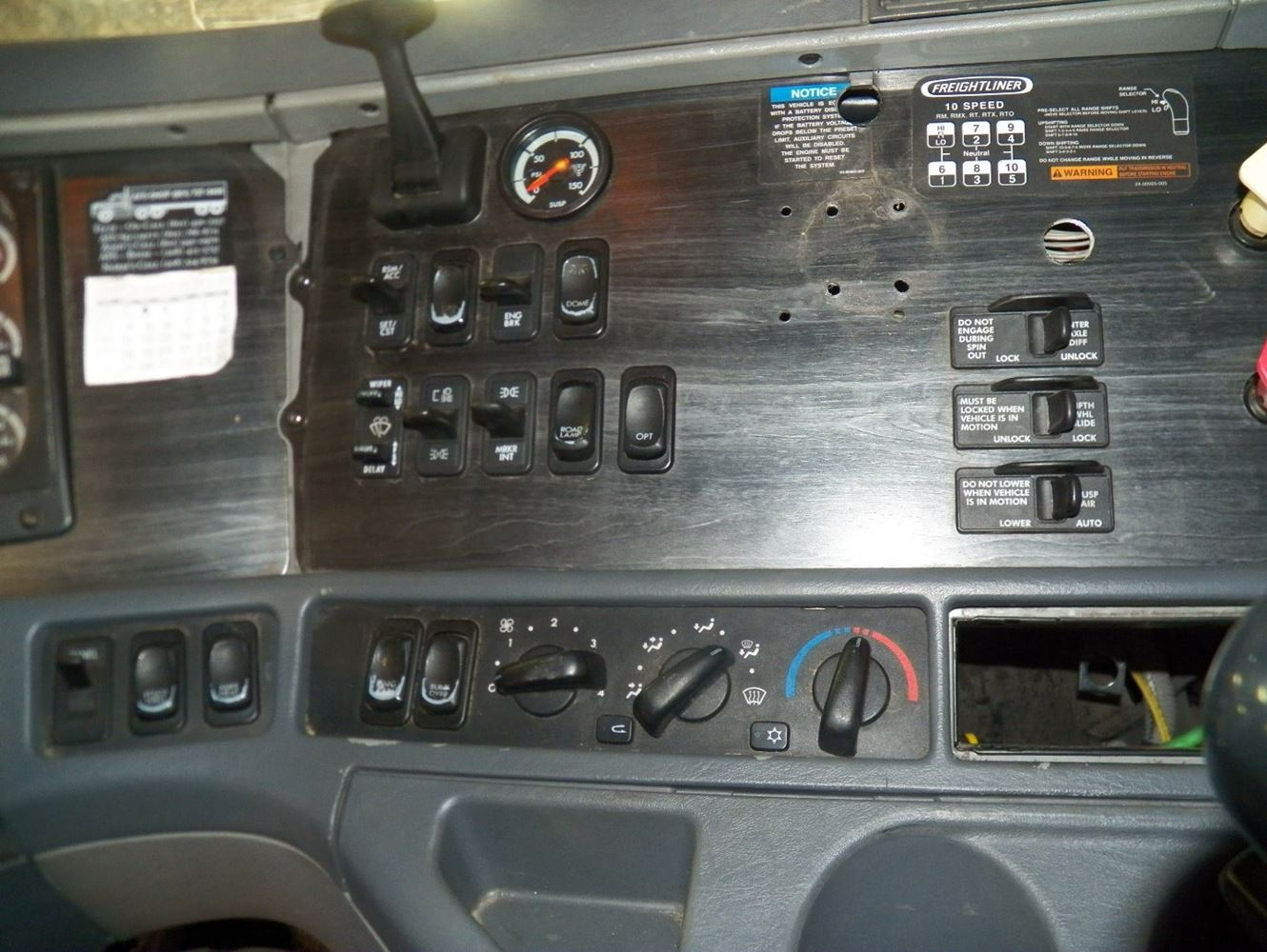 Freightliner Columbia Dash Warning Lights