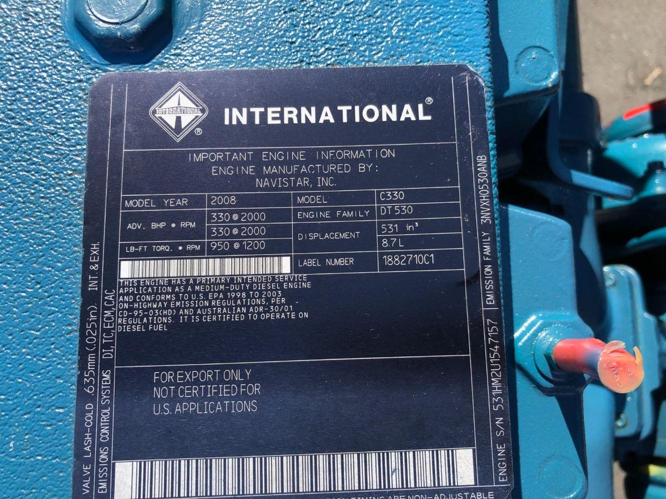 International DT530 (Stock #003973)