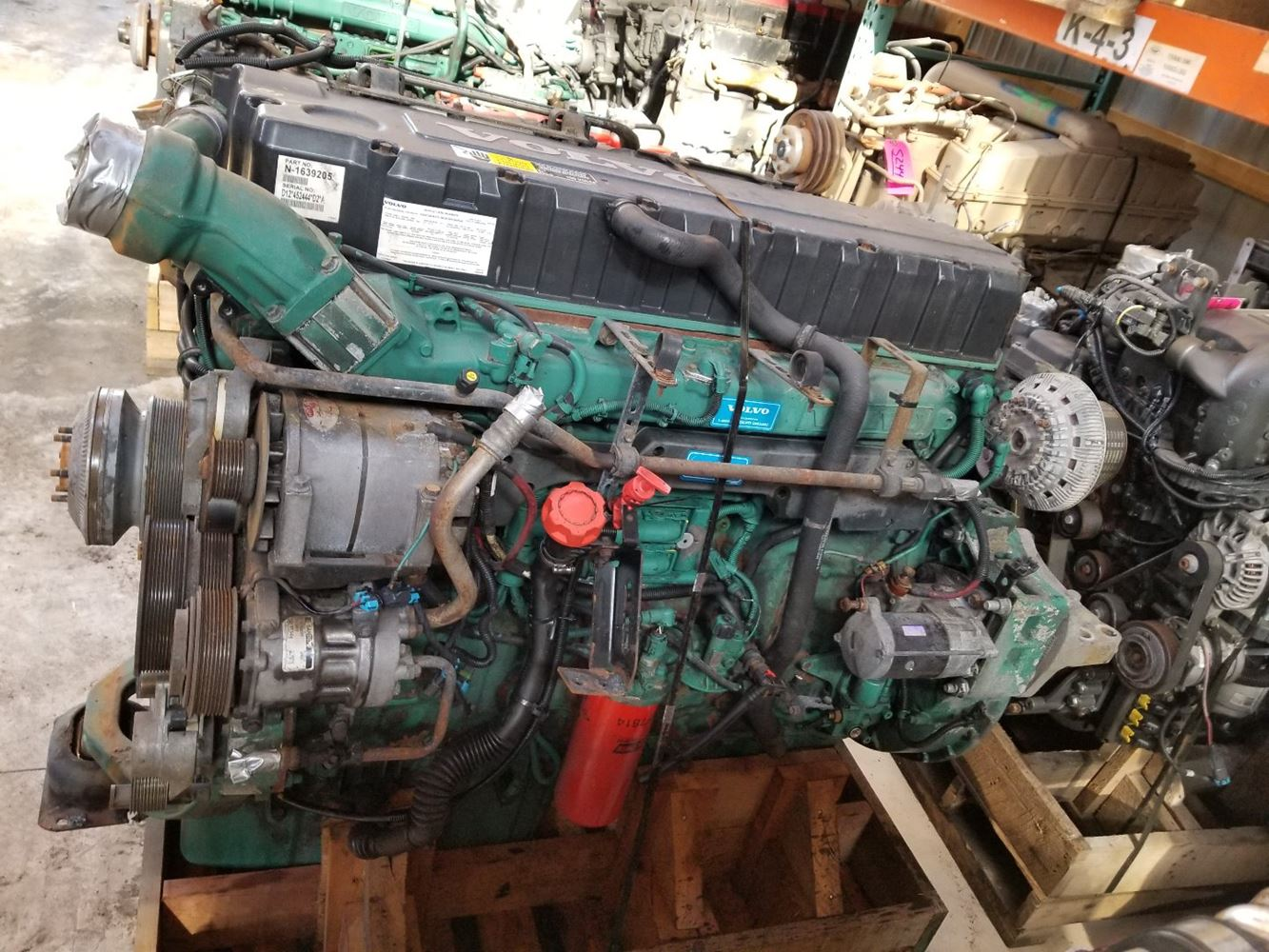 2005 Volvo D12 Stock P 1234 Engine Assys Tpi