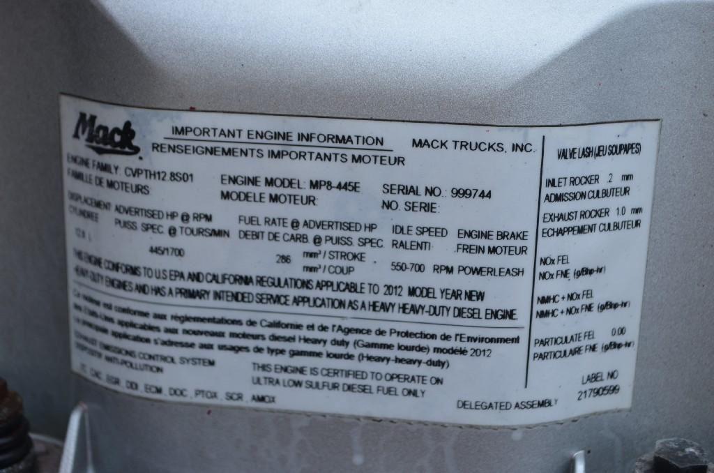 2013 MACK MP8 (Stock #913)