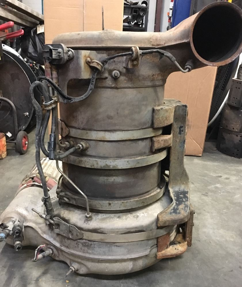 Exhaust Parts For Mack Trucks : Mack mp stock dpp dpf exhaust assembly tpi