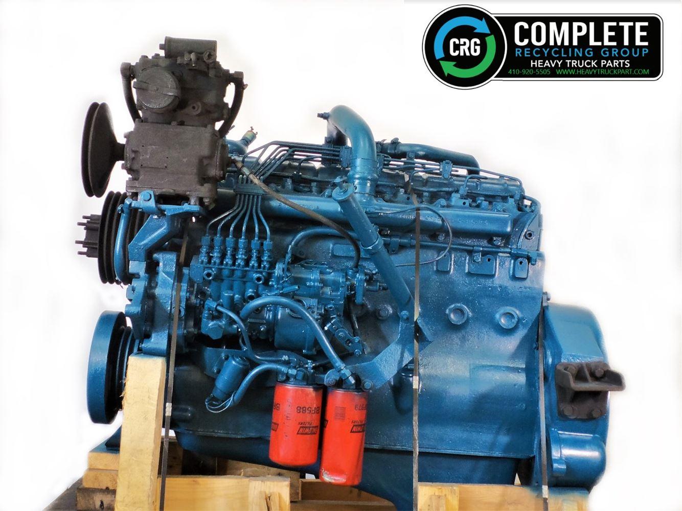 1981 INTERNATIONAL DT466 ENGINE ASSEMBLY TRUCK PARTS #680055