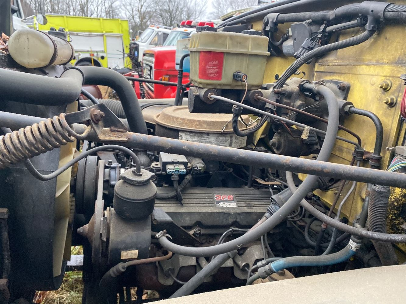 1992 GM/CHEV (HD) 366 GAS ENGINE ASSEMBLY TRUCK PARTS #690532