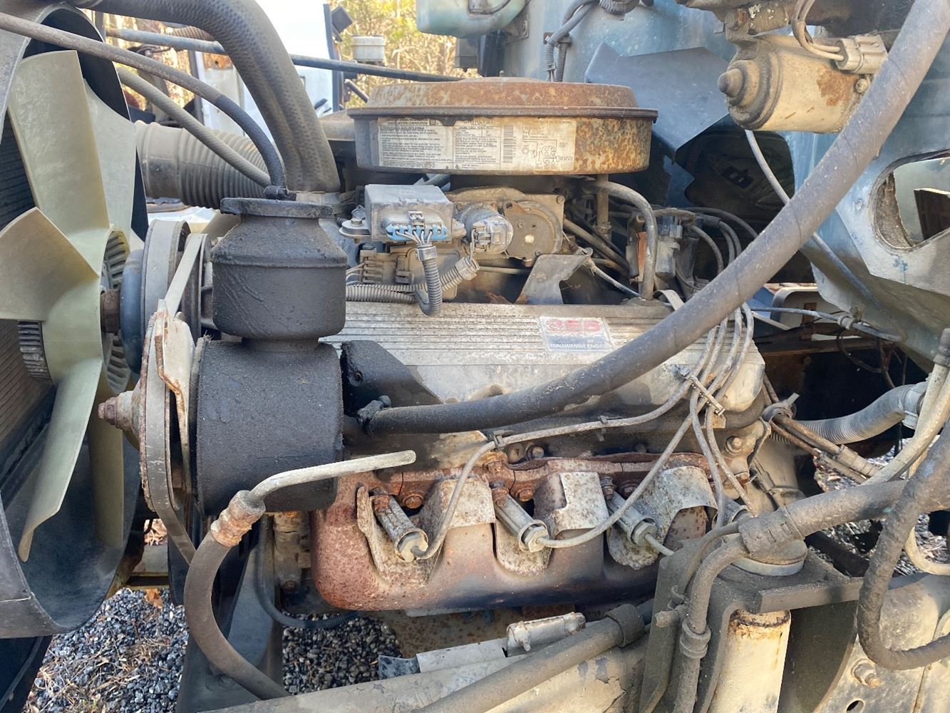1993 GM/CHEV (HD) 366 GAS ENGINE ASSEMBLY TRUCK PARTS #690533