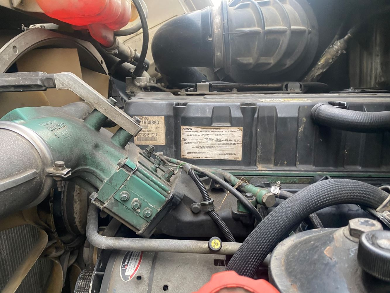 2004 VOLVO VE D12 ENGINE ASSEMBLY TRUCK PARTS #694342