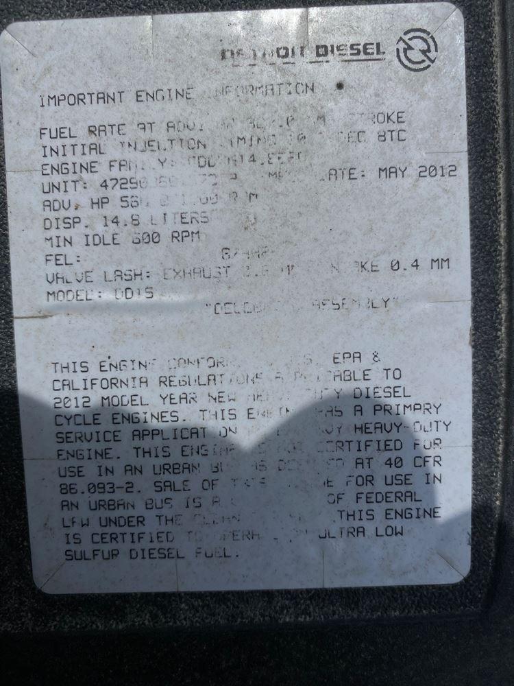 2013 DETROIT DD15 ENGINE ASSEMBLY TRUCK PARTS #721831
