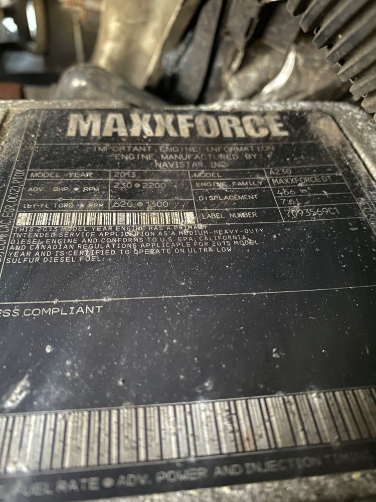 2014 INTERNATIONAL MAXXFORCE DT ENGINE ASSEMBLY TRUCK PARTS #679827