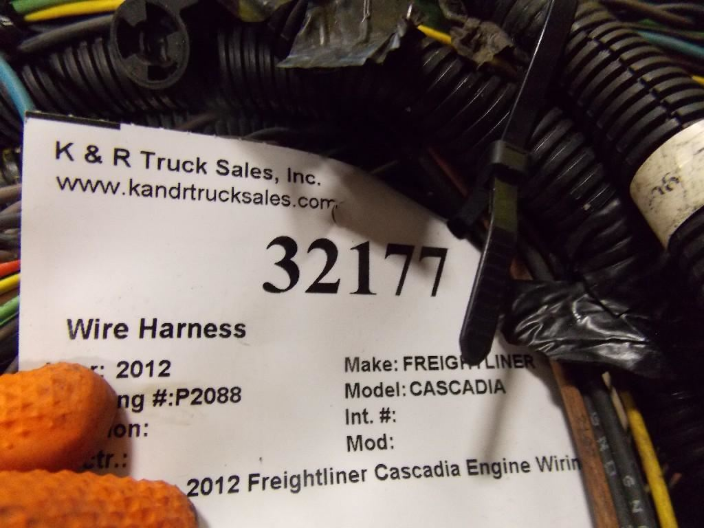 2012 Freightliner Cascadia Stock 32177 Wiring Harnesses Cab Wire Harness 25 July 2017 Image Subject To Change