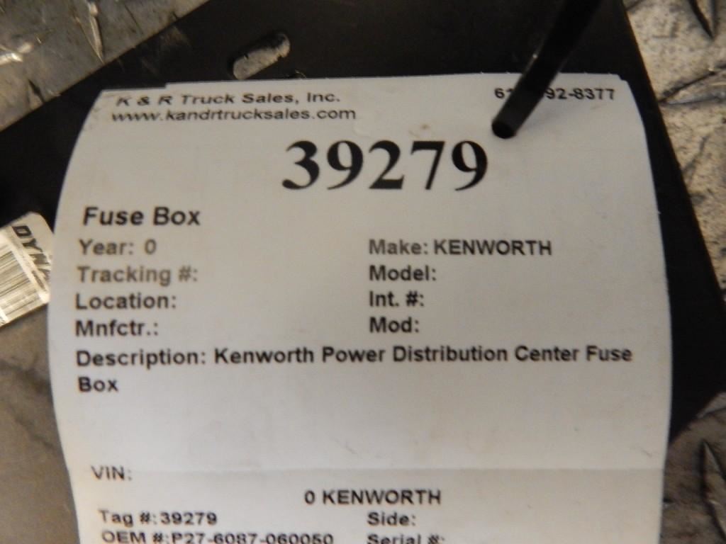 Kenworth Stock 39279 K R Truck Sales Service Fuse Box Image Subject To Change
