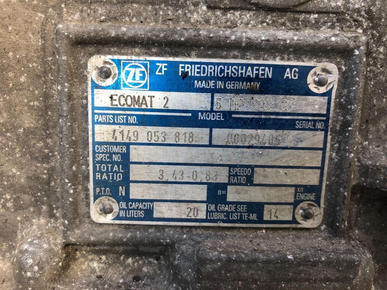 Friedrichshafen Zf Transmission Wiring Diagram  Toyota Transmission