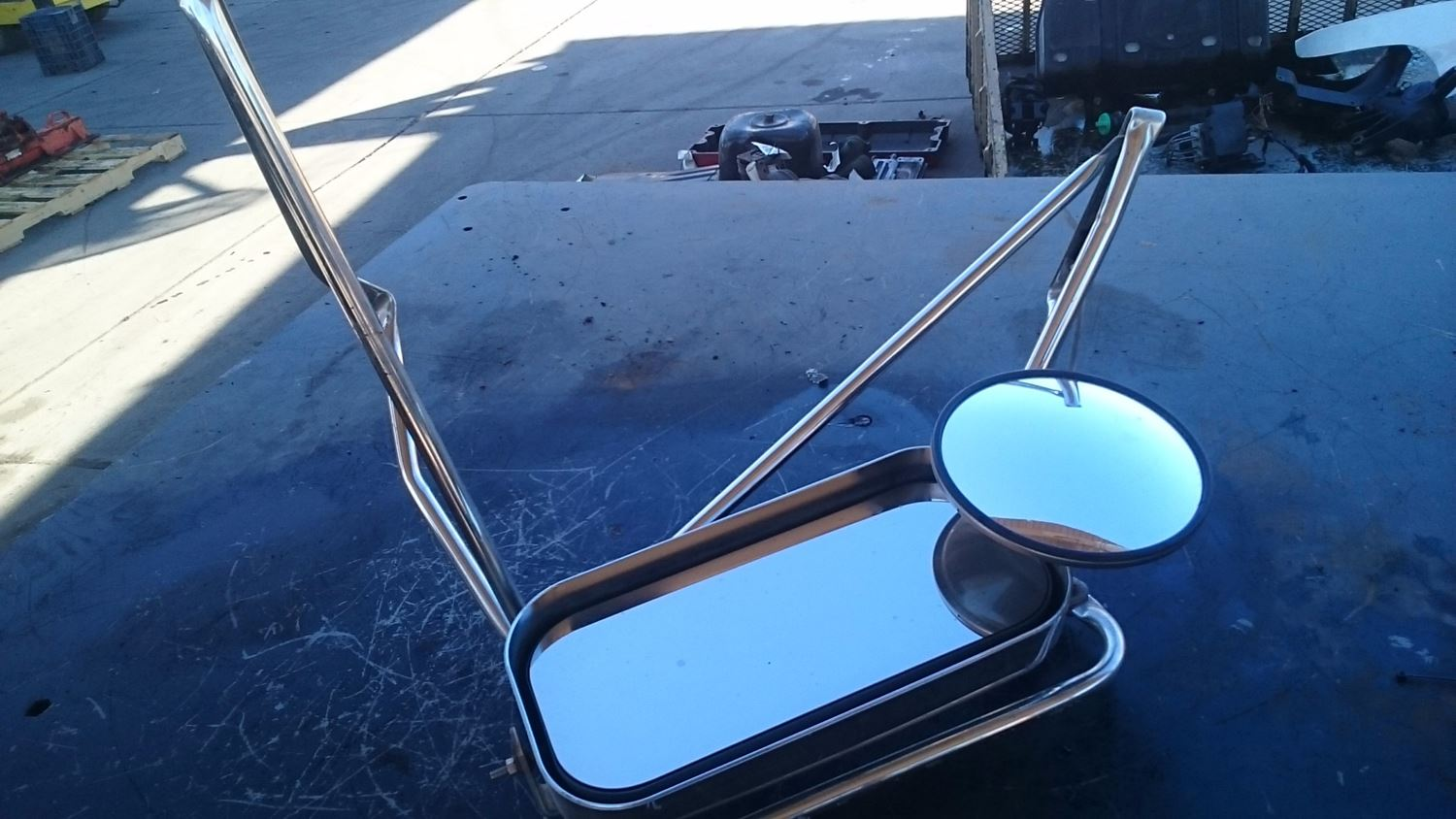 Side View Mirrors New And Used Parts American Truck Chrome Gm 2000 Wiring Harness Rear Mirror Complete For 2003 Sterling A9500 Lh With Plastic Cover