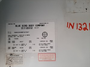 Blue Bird BB Conventional - Salvage IN1321