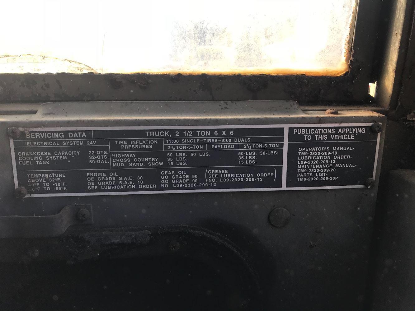1969 AM GENERAL M35A2 | TPI