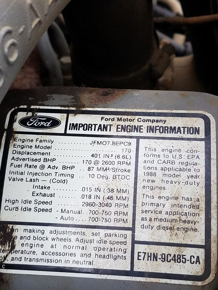 1989 Ford F700 | TPI