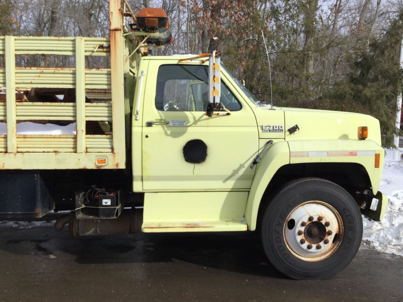 1994 Ford F-450 15 foot Flat Bed Diesel Truck *Lots of NEW PARTS ...